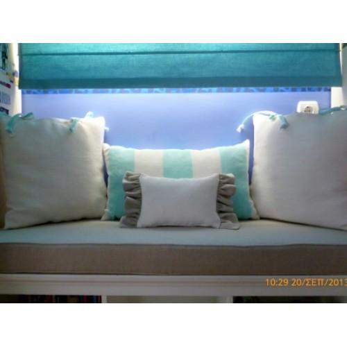 Διακοσμητικά μαξιλάρια και μαξιλάρι καθίσματος Ταπετσαρίες Δεμίρης